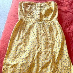 Yellow Kimchi Blue Strapless Dress